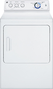 GE - 7.0 Cu. Ft. 9-Cycle Gas Dryer - White-on-White