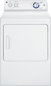 GE - 6.8 Cu. Ft. 6-Cycle Electric Dryer - White-on-White