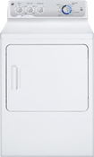 GE - 7.0 Cu. Ft. 13-Cycle Electric Dryer - White-on-White