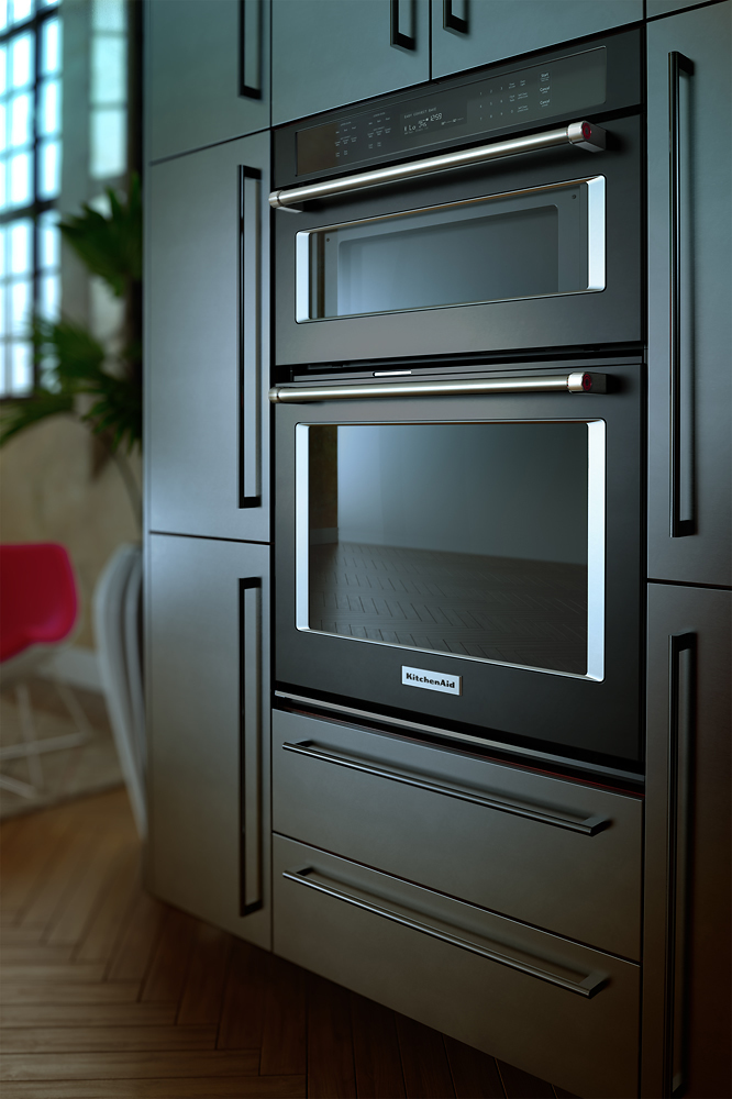 Kitchenaid 30 Single Electric Convection Wall Oven With Built In