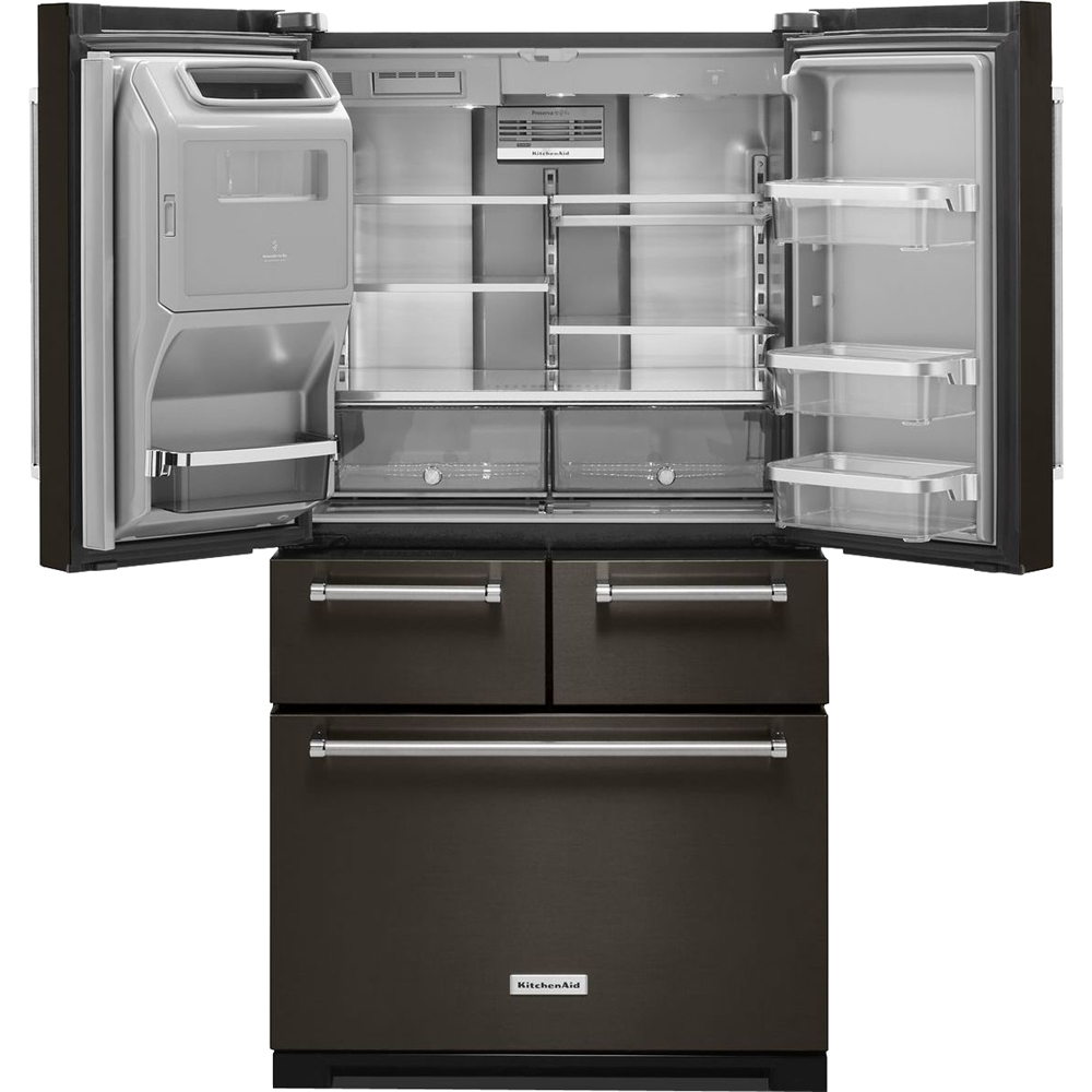KitchenAid   25.8 Cu. Ft. 5 Door French Door Refrigerator   Black Stainless  Steel At Pacific Sales