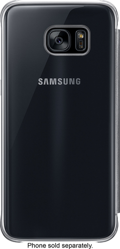 Samsung - S-View Flip Cover for Samsung Galaxy S7 edge - Clear Black