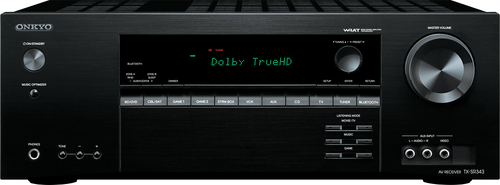 Onkyo TX-SR343 5.1-Ch. 4K Ultra HD and 3D Pass-Through A/V Home Theater Receiver Black