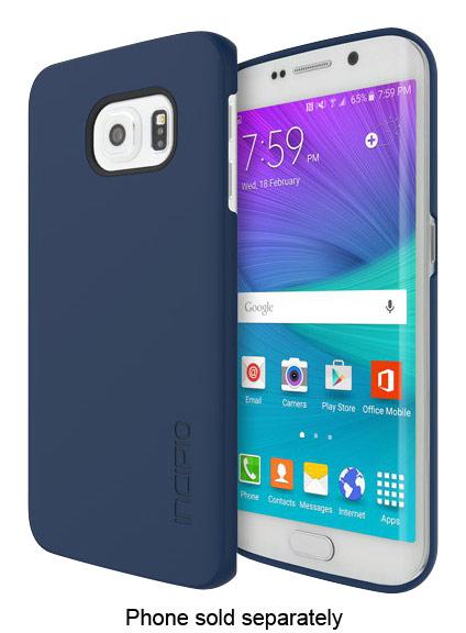 Incipio - feather Case for Samsung Galaxy S6 edge Cell Phones - Navy