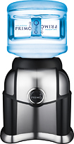 Primo Water - Portable Bottled Water Dispenser - Silver/Black