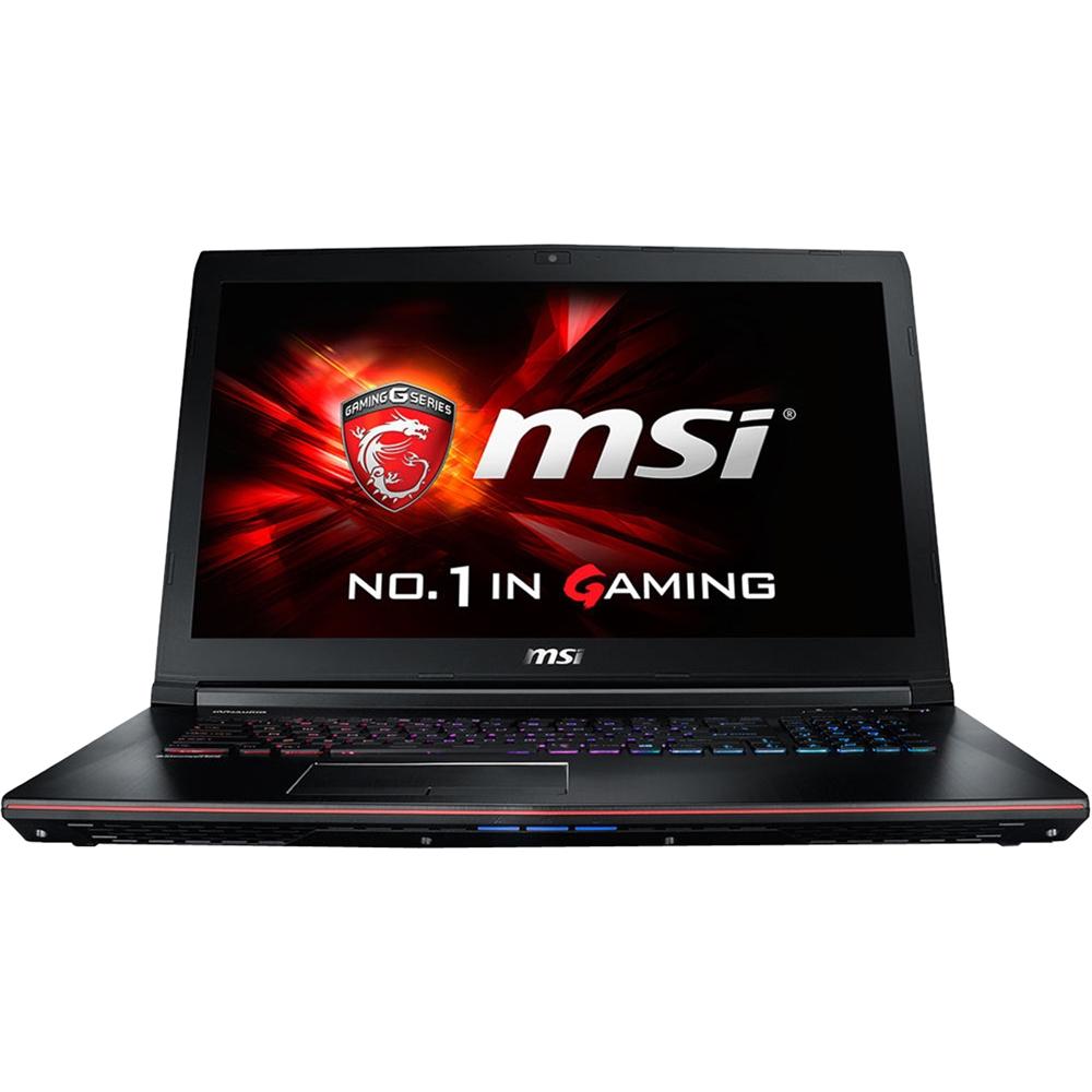 MSI - GE72 Apache Pro-070 17.3 Laptop - Intel Core i7 - 16GB Memory - 1TB Hard Drive + 128GB Solid State Drive - Aluminum Black