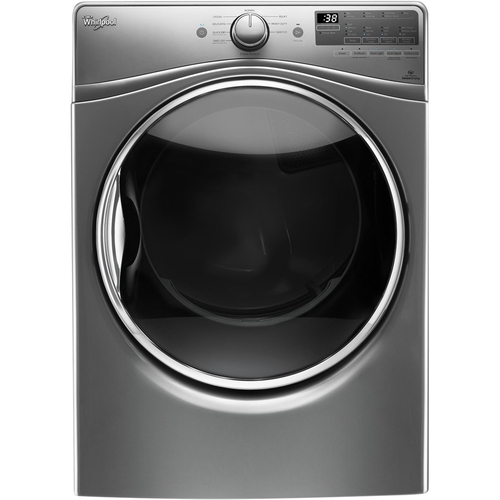 Whirlpool - 7.4 Cu. Ft. 10-Cycle Gas Dryer with Steam - Chrome shadow