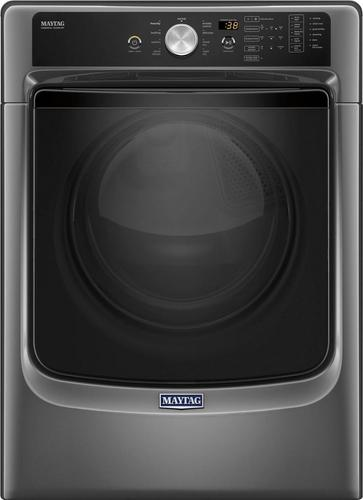 Maytag - 7.4 Cu. Ft. 9-Cycle Electric Dryer with Steam - Metallic slate