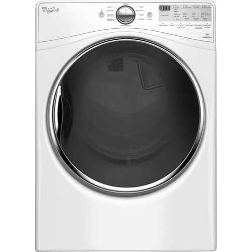 Whirlpool - 7.4 Cu. Ft. 10-Cycle Electric Dryer with Steam - White