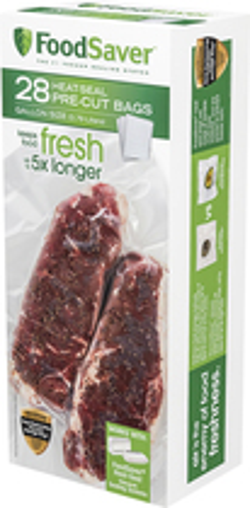 FoodSaver - 28 Gallon Size Heat Seal Pre-Cut Bags - Clear