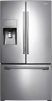 Samsung - 31.6 Cu. Ft. French Door Refrigerator with Thru-the-Door Ice and Water - Stainless-Steel