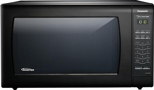 Panasonic - 2.2 Cu. Ft. Family-Size Microwave - Black