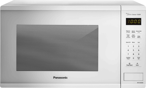Panasonic - 1.3 Cu. Ft. Mid-Size Microwave - White