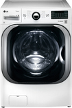 LG - 5.2 Cu. Ft. 14-Cycle Mega Capacity High-Efficiency Steam Front-Loading Washer - White