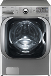 LG - 5.2 Cu. Ft. 14-Cycle Mega Capacity High-Efficiency Steam Front-Loading Washer - Graphite Steel