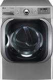 LG - SteamDryer 9.0 Cu. Ft. 14-Cycle Ultra-Large Capacity Steam Electric Dryer - Graphite Steel