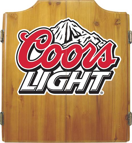 Trademark Games - Coors Light Dart Cabinet Set - Pine