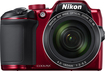 Nikon - Coolpix B500 16.0-megapixel Digital Camera - Red