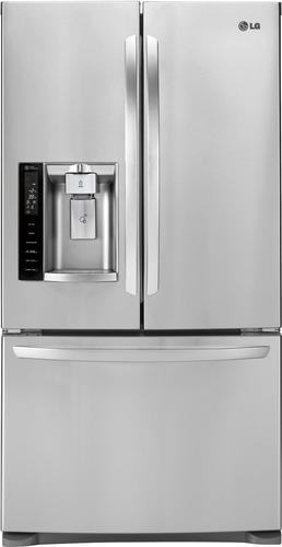 LG - 26.8 Cu. Ft. French Door Refrigerator with Thru-the-Door Ice and Water - Stainless Steel
