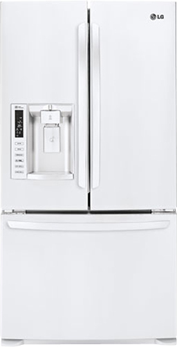 LG - 26.8 Cu. Ft. French Door Refrigerator with Thru-the-Door Ice and Water - White