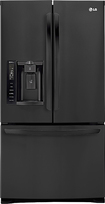 LG - 27.6 Cu. Ft. French Door Refrigerator with Thru-the-Door Ice and Water - Black