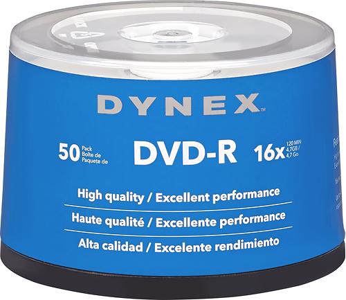 Dynex™ - Life Series 16x DVD-R Discs 50-Pack