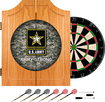 Trademark Games - U.S. Army Digital Camo Solid Pine Dart Cabinet Set - Brown