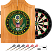 Trademark Games - U.S. Army Symbol Solid Pine Dart Cabinet Set - Brown