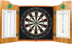 Trademark Games - Bud Light Lime Solid Wood Dart Cabinet - Brown