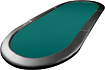 Trademark - Full-Size 8-Player Texas Hold'em Tabletop - Green