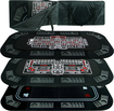 Trademark Games - 8-Player Poker, Craps and Roulette Tabletop - Black