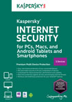 Kaspersky Internet Security - 3-Device - 6 Months - Mac/Windows [Download]