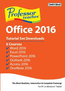 Professor Teaches Office 2016 Tutorial Set Downloads - Windows [digital Download] Deal