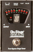 On-Stage - True Bypass Tuner Pedal - Black