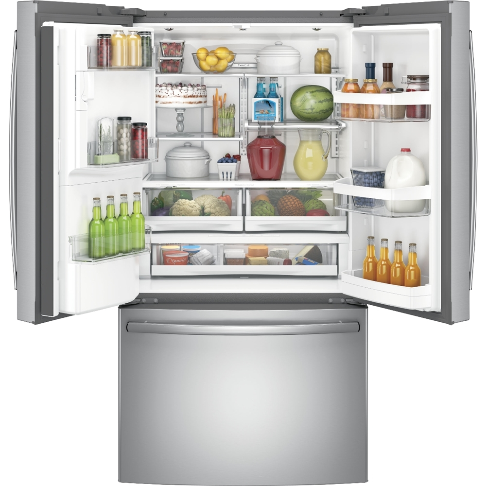 Ge 222 Cu Ft French Door Counter Depth Refrigerator Stainless