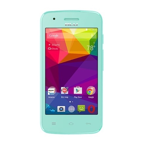 BLU - Dash L with 4GB Memory Cell Phone (Unlocked) - Green
