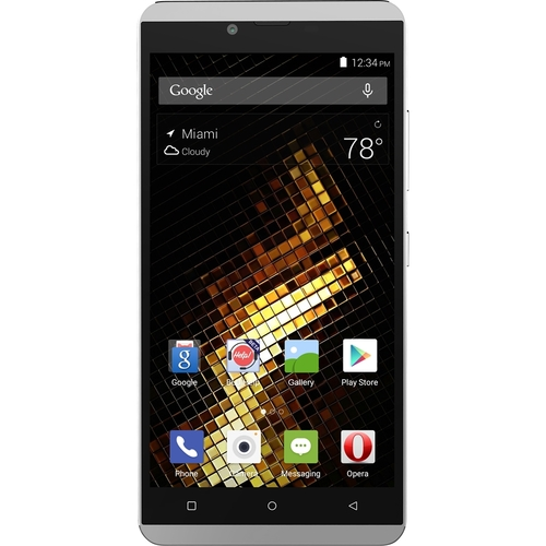 BLU - Vivo XL 4G with 16GB Memory Cell Phone (Unlocked) - Silver