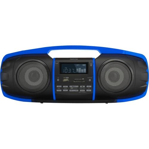 Memorex - FlexBeats Bluetooth Partybox Multimedia Boombox - Black/Blue