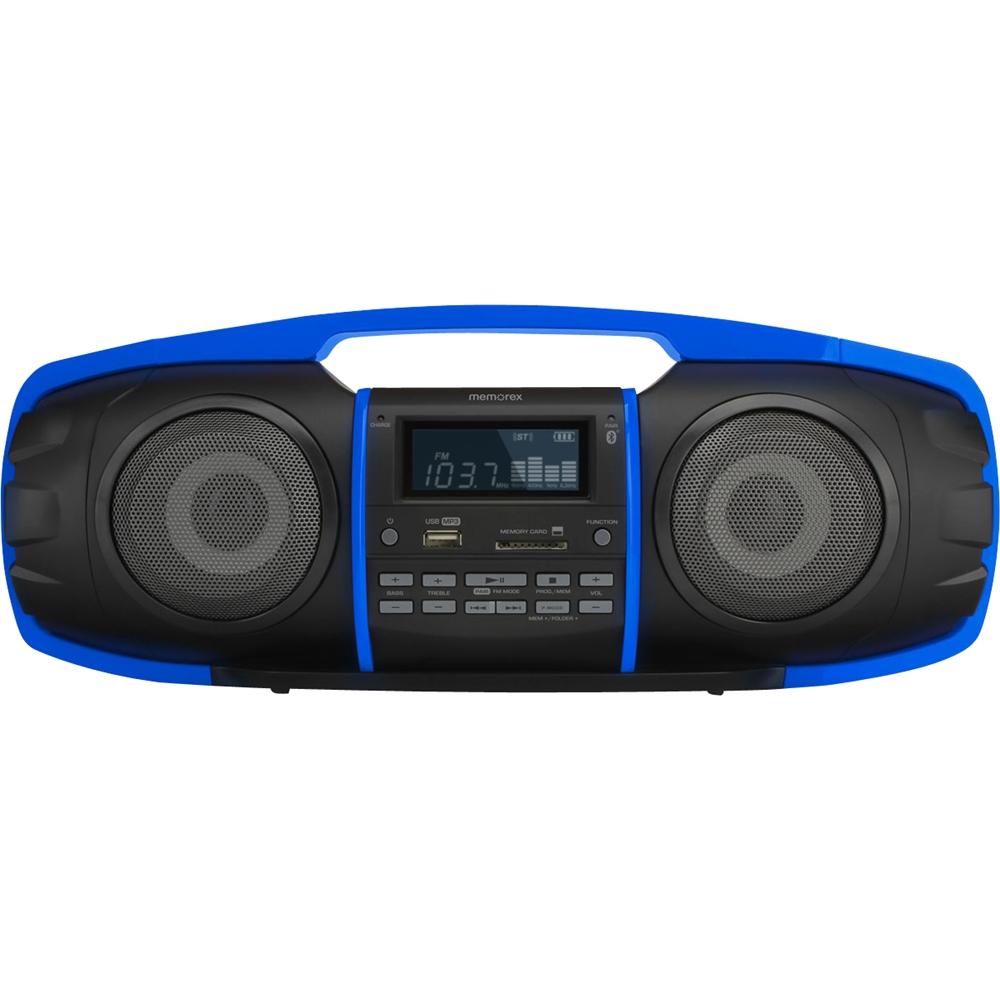 Memorex - Flexbeats Bluetooth Partybox Multimediaboombox - Black/blue