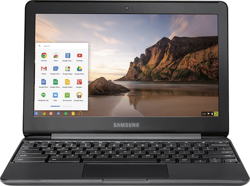 Samsung - 11.6 Chromebook 3 - Intel Celeron - 4GB Memory - 16GB eMMC flash memory - Black