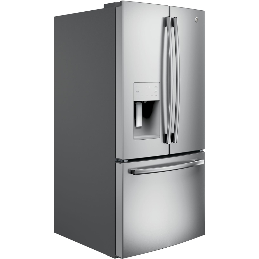 Ge 238 Cu Ft French Door Refrigerator Stainless Steel At