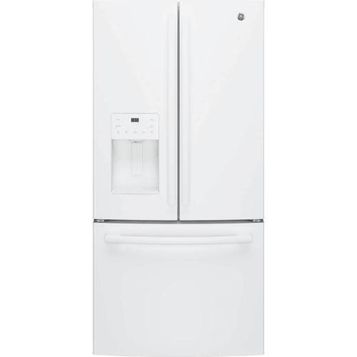 GE - 23.8 Cu. Ft. French Door Refrigerator - High gloss white