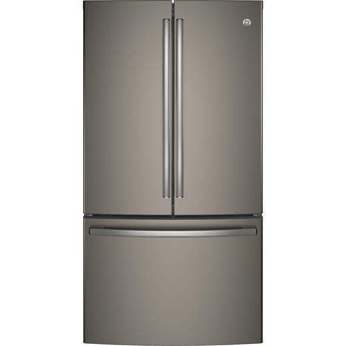 GE - 28.5 Cu. Ft. French Door Refrigerator - Slate (Grey)