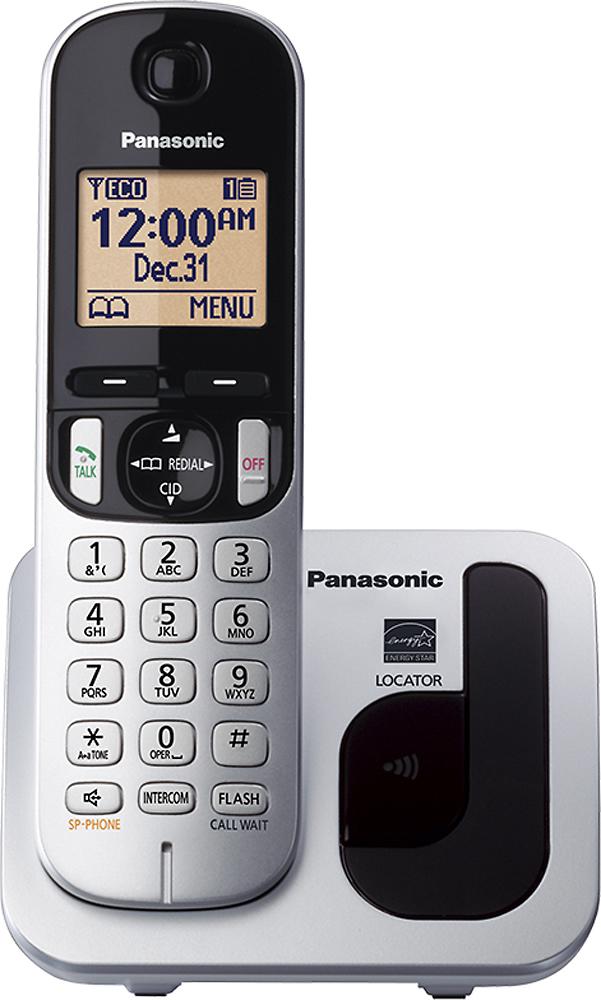 Panasonic - KX-TGC210S DECT 6.0 Expandable Cordless Phone - Silver