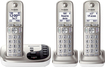 Panasonic - KX-TGD223N DECT 6.0 Expandable Cordless Phone System with Digital Answering System - Champagne Gold