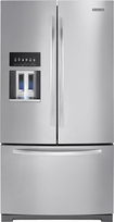 KitchenAid - 28.6 Cu. Ft. French Door Refrigerator with Thru-the-Door Ice and Water - Monochromatic Stainless-Steel