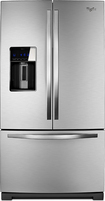 Whirlpool - 28.6 Cu. Ft. French Door Refrigerator With Thru-the-door Ice And Water - Stainless-steel
