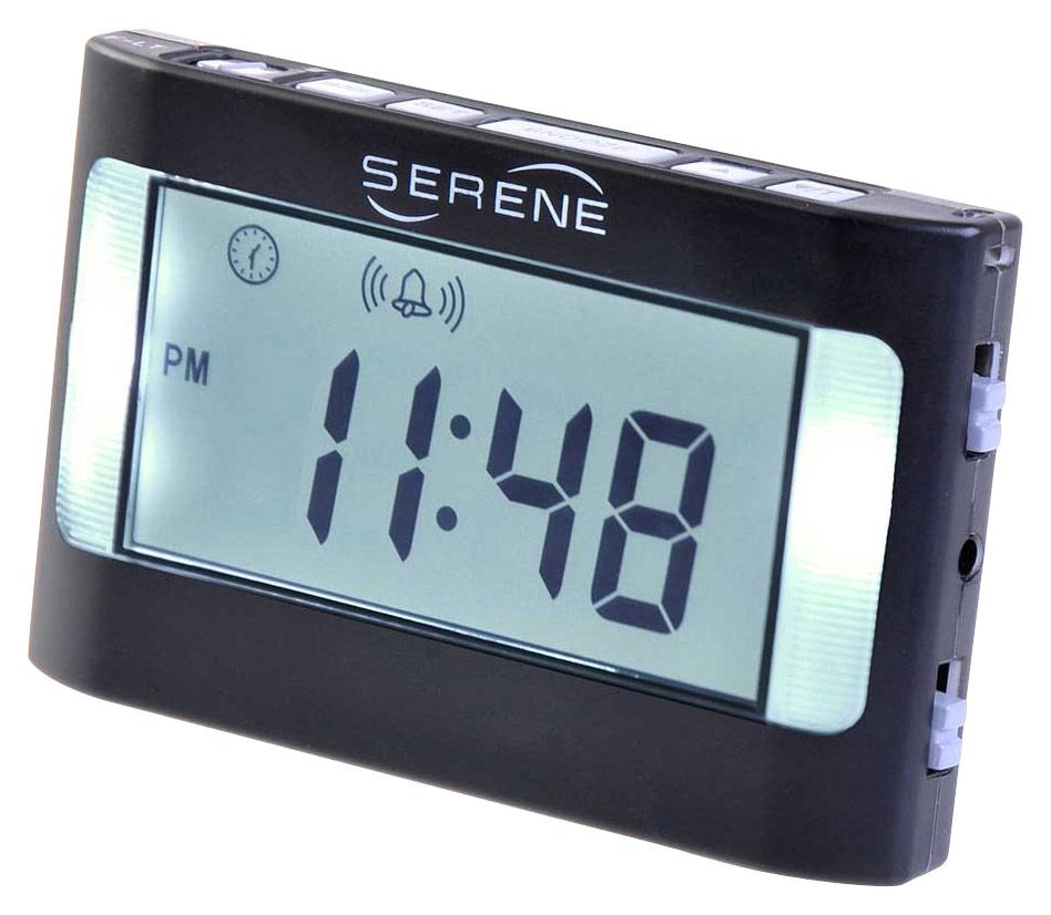 Serene Innovations - Va3 Vibrating Travel Alarm Clock - Black 5014172