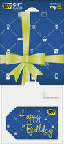 Best Buy GC - $50 Happy Birthday Gift Wrap Gift Card - Multi