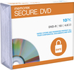 Memorex - Secure 10-Pack 16x DVD-R Discs with Slimline Jewel Cases - White